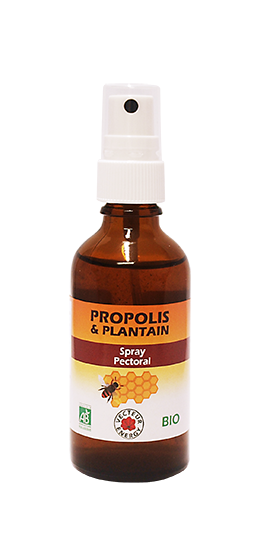 Propolis Plantain - Spray pectoral - Bio*