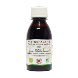 Phytospagyrie N°21 Beauté (peau, cheveux, ongles) - Bio* - 150 ml