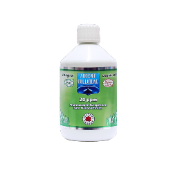 Solution Argent colloïdal 20 ppm 500 ml certifiéé naturelle**