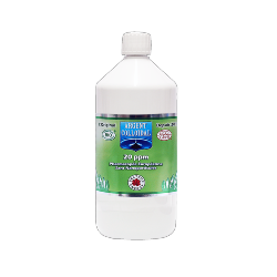 Solution Argent colloïdal  20 ppm 1 Litre certifié naturelle**