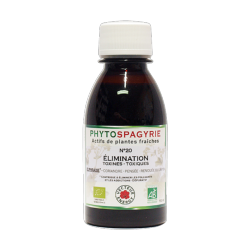 Phytospagyrie n°20 Elimination (Toxines-Toxiques) - Bio* - 150 ml